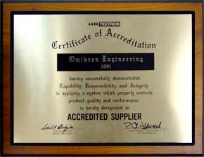 "</p> <div align=""center"">Certificate of Accreditation</div> <p>"