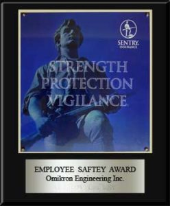 "</p> <div align=""center"">Employee Saftey Award</div> <p>"